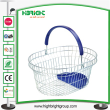Круглый металлический ручной корзины для продуктовых магазинов