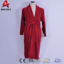 heavy weight high quality 100% cotton terry hotel bathrobe