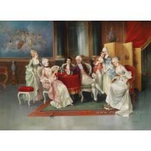 Неподдельная ручная роспись классической масляной живописи на холсте