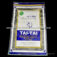 sac de conditionnement de riz biologique en plastique