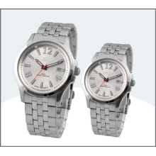 High-Grade Stainless Steel Couple Watch, Quartz Watch (15181)