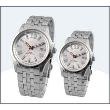 High-Grade Stainless Steel Couple Watch, Quartz Watch (15181)