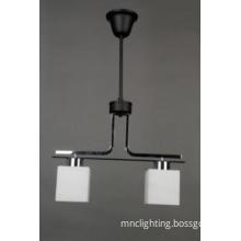 hot sale square 2L glass shade pendant lamp