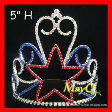 Vente en gros Crystal Star Pageant Crown tiara, star boys couronnes, gros enfants couronnes
