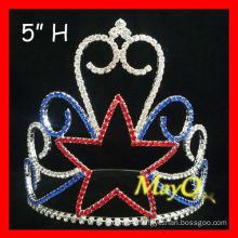 Wholesale Crystal Star Pageant Crown tiara, star boys crowns, wholesale kids crowns