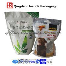 Printed Ziplock Pet Food Bag with Clear Window