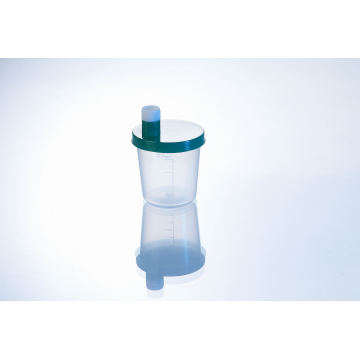 Plastic Sputum Container with Mouth 30ml on Cap, Mateial PP