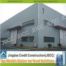 Edificio de almacén de estructura de acero ligero galvanizado de diseño moderno