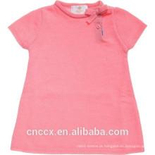 16STC1003 malha vestido de bebê de cashmere