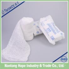 bandagem de gaze de algodão absorvente médico krinkle