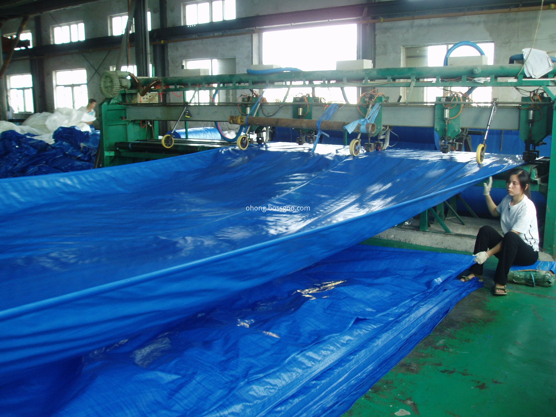 High strength PE tarp producing