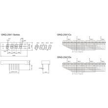 0,25 polegadas 4 dígito 7 Segmento Display (GNS-2541Cx-Dx)