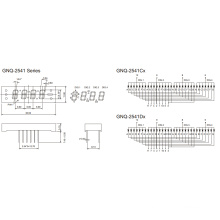 0,25 дюйма 4 цифры 7 Сегментный дисплей (GNS-2541Cx-Dx)