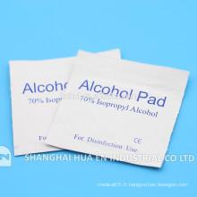 Écouvillon d'alcool stérile à vente chaude utilisé pour le médicament par le fabricant