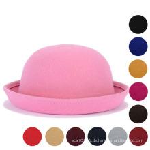 Lady Classic Uni Wolle gestrickt Winter Warm Bucket Hat (YKY3235)