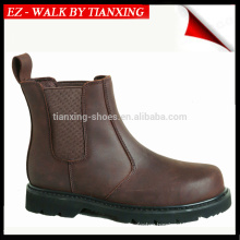 Dark BROWN Hight GOOD YEAR WELT NUBUCK LEATHER SAFETY SHOE WITH STEEL TOE