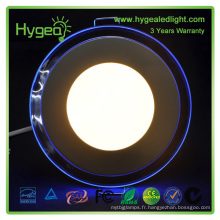 6w 12w 18w 24w couleur bleue et blanche couleur bicolore panneau LED avec homologation CE SAA