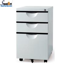 Bonne qualité marché américain vente chaude 3 tiroirs en métal armoire mobile