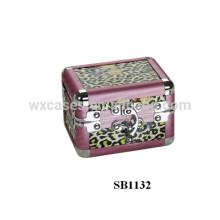 caixa de alumínio anodizado único relógio