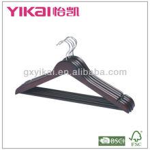 Conjunto de suspensión de madera plana de la camisa 5pcs con la barra redonda y el tubo del PVC