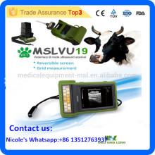 Appareil ultrasonien vétérinaire à ultrasons / vétérinaire portatif portatif à fonction multiple pour chien, chat, cochon, équine, vache, mouton MSLVU19i