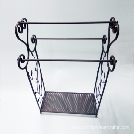 Bronze Metal Free Standing Towel Rack