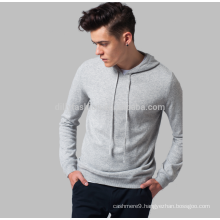 2017 chic sports cashmere knitting hooded jumper for men