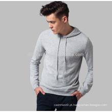 2017 chic sports cashmere tricô jaqueta com capuz para homem