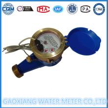 Material de latón Seco Pulso Medidores de flujo de agua (DN15-DN25)