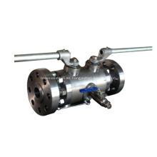Válvula de bola compacta DBB compacta montada en muñón