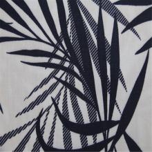 Leaf Print With Rayon Twill Fabric
