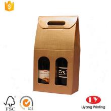 caixa de papel de empacotamento de vinho barato feito-à-medida