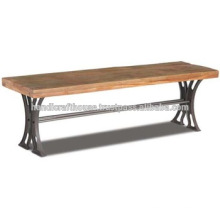 Industrial Vintage Holz Metall schmales Esszimmer Bench