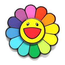custom sunflower smile brooch badge colorful flower lapel pin