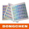 Meilleur fournisseur imperméable à l'eau 3m adhésif sécurité anti-fausse hologramme autocollant
