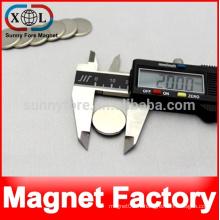 pression magnétique forte de 20 x 2 mm au néodyme