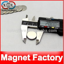 20mm x 2mm neodymium strong magnetic snap