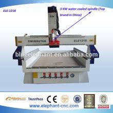 Máquina de alta velocidad del router del CNC de madera con el eje de la refrigeración por agua