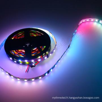 60LEDs / m 5050 a mené l'éclairage de club de bande de dmx 24 volts a mené la lumière de corde