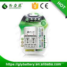 Carregador de bateria Geilienergy C802 NIMH 9V com 2 slots