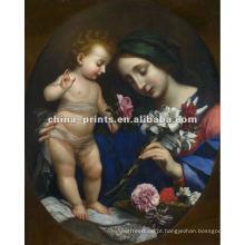 Santa Maria Igreja Figuras Pintura de tela Artes com quadro