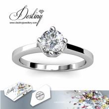 Destino joyería cristal de Swarovski anillo clásico