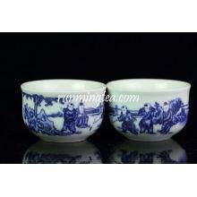 """Big """"Crianças chinesas jogando"""" Blue & White Tea Cup"""