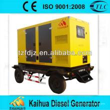 El CE aprobó el generador silencioso del tipo diesel del remolque del scania 250kw