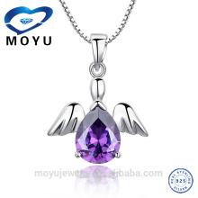 Großhandel Silber Schmuck Engel Flügel Großhandel Silber Schmuck Engel Flügel Kreuz Anhänger billig Schmuck aus China
