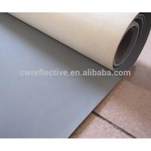 Tissu en cuir PVC réfléchissant argenté haute lumière pour chaussures