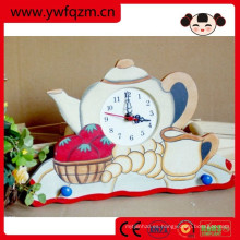 Reloj digital de madera utilizado para la habitación del bebé, reloj de pared
