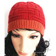 Custom Weave bonito borda jacquard Knitting Caps