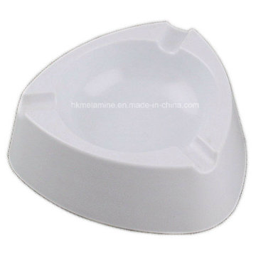 White Melamine Triangle Ashtray with Solid Color