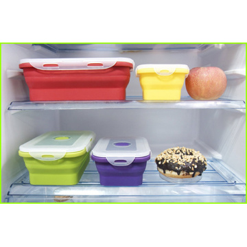 Set De 4 Lunch Box En Silicone Pour Enfants
